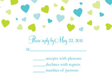 Shower Of Hearts Spring RSVP Cards