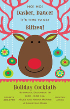 Because of Blitzen! Holiday Invitation
