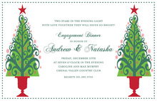 Dualing Trees Holiday Invitation