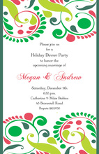 Garland Greetings Holiday Invitation