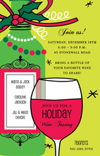 Dreaming of a Wine Christmas Holiday Invitations