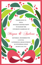 Welcome Wreath Holiday Invitation