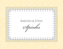 Stylish Damask Yellow Thank You Cards