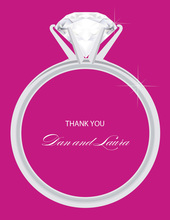 Solitaire Engagement Flirt Thank You Cards