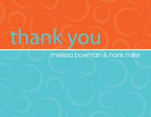 Engaged Turquoise-Orange Thank You Cards