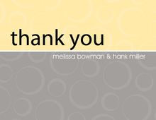 Engaged Yellow-Grey Thank You Cards