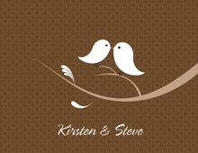 Love Birds Chocolate Thank You Cards