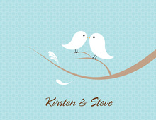 Love Birds Bali Thank You Cards