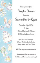 Side Wedding Collage Invitations
