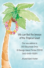 Watercolor Tropical Themed Invitation
