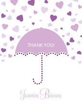 Forecasting Love Purple Thank You Cards