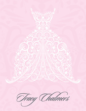 Beautiful Dress Pink Thank You Cards