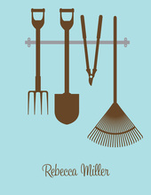 Garden Tools Chocolate-Bali Thank You Cards