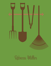 Garden Tools Chocolate-Olive Thank You Cards
