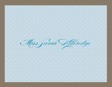 Blushing Bride Blue Thank You Cards