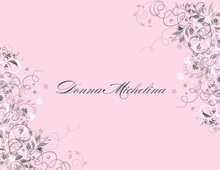 Modern Flower Pink Thank You Cards