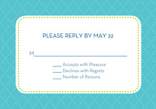 Traditional Quilted Spring RSVP Cards