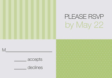 Squares Stock The Bar Shower Olive RSVP Cards