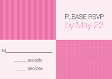 Squares Around The House Pink RSVP Cards