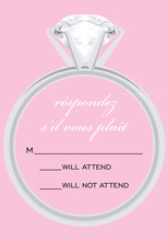 Solitaire Modern Pink RSVP Cards