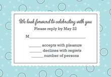 BBQ Shower Couple Blue RSVP Cards
