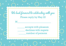 BBQ Shower Turqoise-Lime RSVP Cards