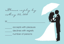 Couple Shower Silhouette Bali RSVP Cards