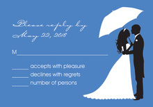 Unique Couple Shower Silhouette RSVP Cards