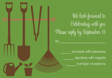 Go Green Garden Tools RSVP Cards