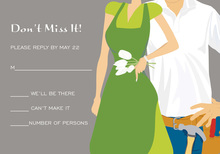 Green Couple Shower Tools-Garden RSVP Cards