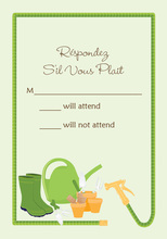Hose Border Garden Shower RSVP Cards