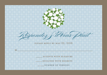 Blushing Bride Blue RSVP Cards