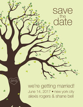 Tree Of Love Save The Date Invitations