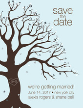 Cool Tree Of Love Save The Date Invitations