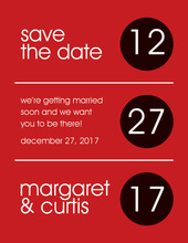 Circles Black-Berry Save The Date Invitations