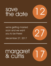 Autumn Circles Save The Date Invitations