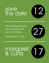 Modern Circles Save The Date Invitations