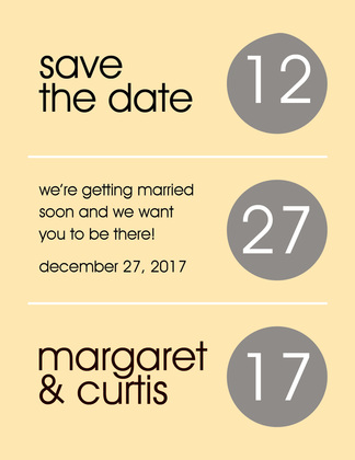 Circles Dots Lavender Save The Date Invitations