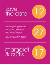 Hot Tangerine Circles Save The Date Invitations