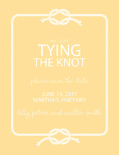 Wedding Knot Yellow Save The Date Invitations