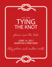 Wedding Knot Red Save The Date Invitations