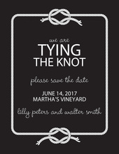 Wedding Knot Black Save The Date Invitations