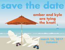 Tropical Save The Date Invitations
