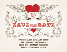 Wing Of Love Save The Date Invitations