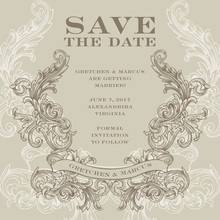 Ornate Emblem Invitation