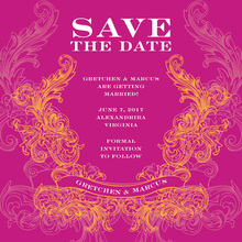 Hot Swirl Pink Invitation