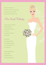 Blushing Bride Blonde Invitation