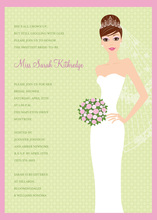 Blushing Bride Brunette Invitation
