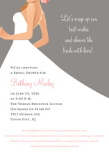 Bridal Bride Grey Red Haired Bridal Shower Invites
