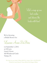 Redhead Bride Green Invitations